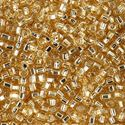 Picture of Size 8 Japanese Seed Beads, Silver-Lined Straw Gold (#3), ~ Approximately 25 Grams