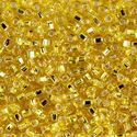 Picture of Size 8 Japanese Seed Beads,Silver-Lined Yellow (#6), Approximately 25 ~ Grams