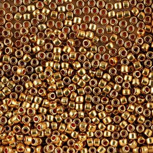 Picture of Galvanized Gold Seed Beads Color 471 Size 8<br />Approximately 25 ~        Grams