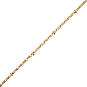Picture of Gold Filled Chain And Bead Chain 18 Inch
