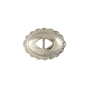 Picture of Nickel Silver Plated Diamond Concho with Double Hole, 28x38mm, ~ 10pcPkg