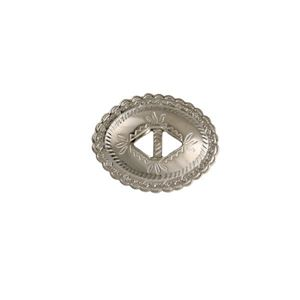 Picture of Nickel Silver Plated Diamond Concho with Double Hole, 44x56mm, ~ 10pcPkg