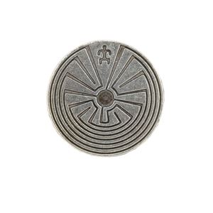 Picture of Silver Plated  27mm Man In Maze Bead