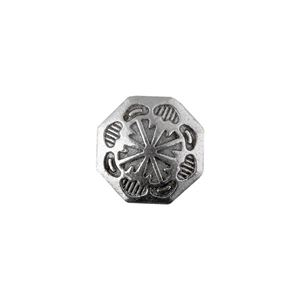 Picture of Base Metal, 18mm, 4 Direction Concho Button. 10pcs.