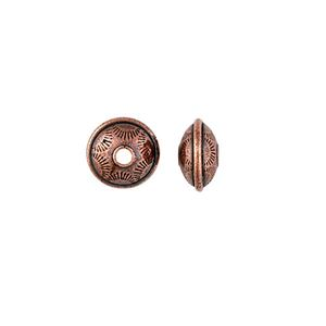 Picture of TierraCast Antiqued Copper Plate Stamped Rondelle Bead, 6x10mm, I.D. ~ 2mm