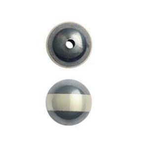 Picture of Sterling Silver Navajo Pearls by JCK, 12mm Silver Line Seamless ~        Bead