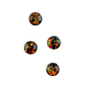 Picture of Imitation Black Opal, Round Cabochon, 4mm