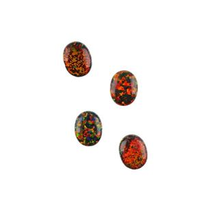 Picture of Imitation Black Opal, Oval Cabochon, 7x9mm