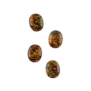 Picture of Imitation Black Opal, Oval Cabochon, 8x10mm