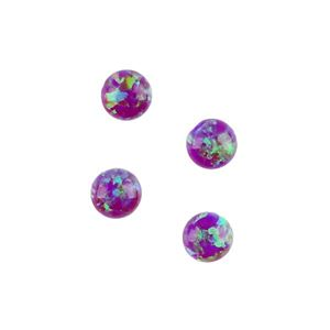 Picture of Imitation Amethyst Opal, Round Cabochon, 4mm