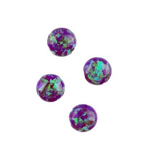 Picture of Imitation Amethyst Opal, Round Cabochon, 5mm