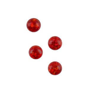 Picture of Imitation Flame Opal, Round Cabochon, 4mm
