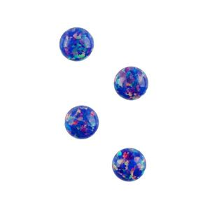 Picture of Imitation Starry Night Opal, Round Cabochon, 4mm