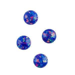 Picture of Imitation Starry Night Opal, Round Cabochon, 5mm