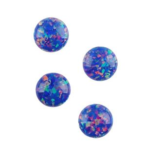 Picture of Imitation Starry Night Opal, Round Cabochon, 6mm