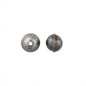 Picture of Sterling Silver Stamped Flower Seam Bead, 8mm