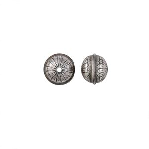 Picture of Sterling Silver Stamped Flower Seam Bead, 10mm