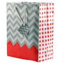 "Picture of Paper Tote, Polka Dot/Chevron Coral, 8"" x 5"" x 10"" H"
