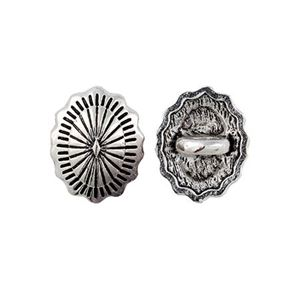 Picture of Base Metal Concho Button 12x15mm, 10pcs