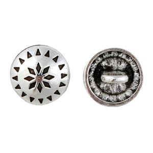 Picture of Base Metal Native Star Concho Button 15mm, 10pcs