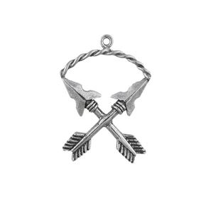 Picture of Sterling Silver Crossed Arrows Charm, 21x27mm