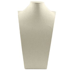 """Picture of Beige Linen Mannequin Style Stand, 10-3/4"""" x 6-1/2"""" x 18"""" H"""