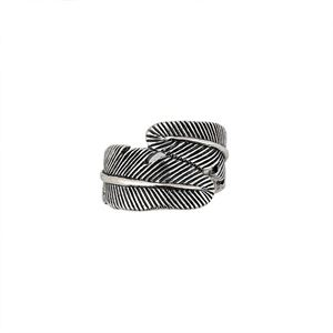 Picture of Sterling Silver Feather Ring, Size 8