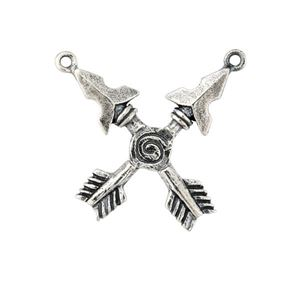 Picture of Sterling Silver Crossed Arrows Charm, 19x23mm