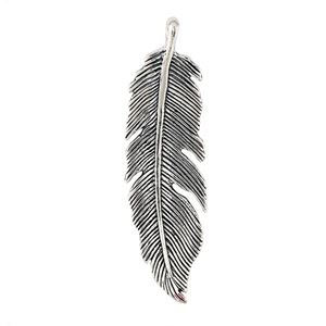 Picture of Sterling Silver Left Feather Charm, 12x40mm