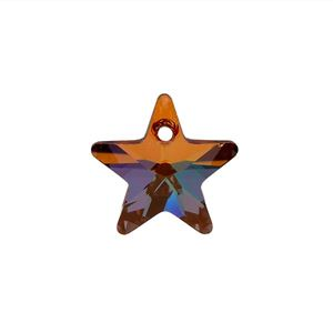 Picture of Swarovski Copper Star Pendants, 14mm, sold by the pair
