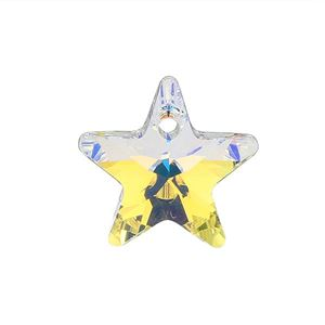 Picture of Swarovski Crystal Aurora Borealis Star Pendants, 14mm, sold by the ~ pair