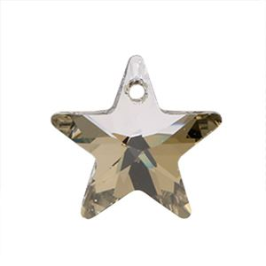 Picture of Swarovski Silver Shade Star Pendants, 16mm, sold by the pair