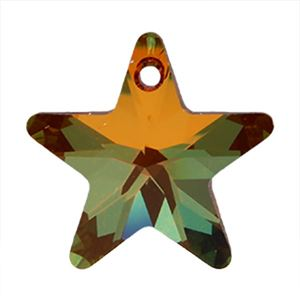 Picture of Swarovski Copper Star Pendants, 20mm, sold by the pair