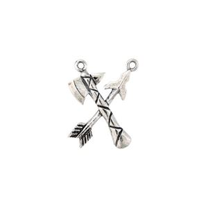 Picture of Sterling Silver Tomahawk and Arrow Charm, 16x20mm