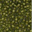 Picture of Peridot Colorlined Light Olive Seed Bead #399Z / Size 6<br ~ />Approximately 25 Grams