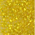 Picture of Silverlined Yellow Seed Beads #6 / Size #6<br />Approximately 25 ~        Grams