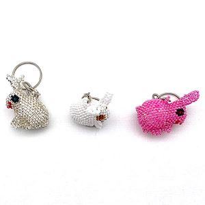 Picture of Beaded Bunny Key Chain