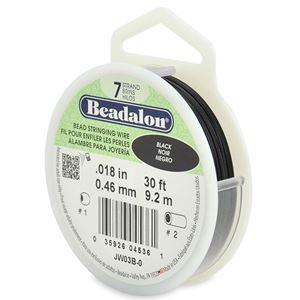 Picture of Beadalon Black Wire 7 Strand .018 Inch 30 Feet