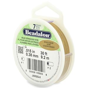 Picture of Beadalon Gold Wire 7 Strand .015 Inch 30 Feet