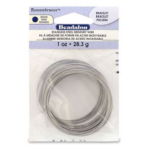 Picture of Beadalon Remembrance Bracelet Memory Wire .025 Inch 1 oz