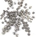 Picture of Assorted Silver Plated Rondelle and Shape Beads, 10-pieces per ~ pkg