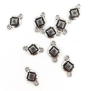 Picture of Silver Plated Rug Pattern Concho Link, 10mm, 10-pieces per ~ Pkg